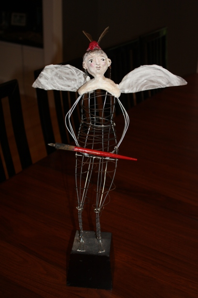 www.kathievezzani.com; wire sculpture; doll