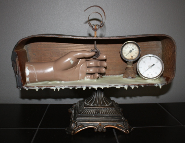The Time Keeper Assemblage by Kathie Vezzani
